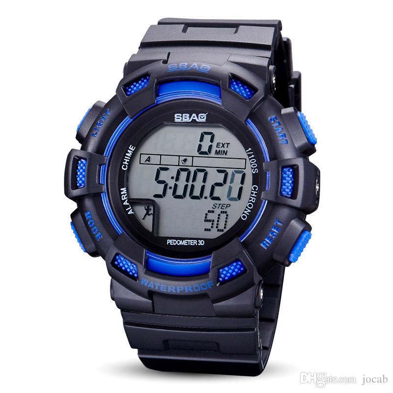 Digitale Uhren Uhren Multifunktionale Männer Mode Uhren Sport Uhr Digitale Schrittzähler Alarm Wasserdicht Militär Sport Elektronik Armbanduhr