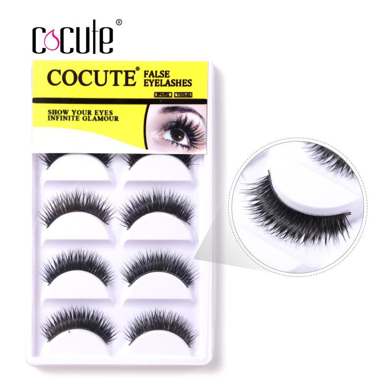 0d37d272786 New Natural Eye Lashes Makeup Handmade Thick Fake Cross Make Up ...