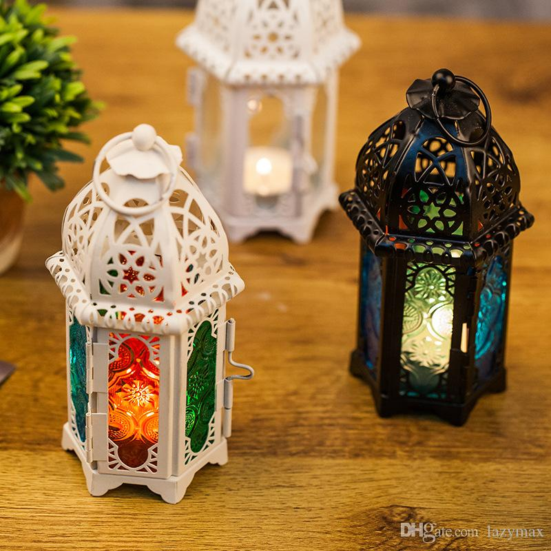 Morocco Candlestick Ornament Iron Candle Holder Hollow Arts And Crafts Home  Wedding Lantern Decoration Birthday Gift 1 Pieces ePacket