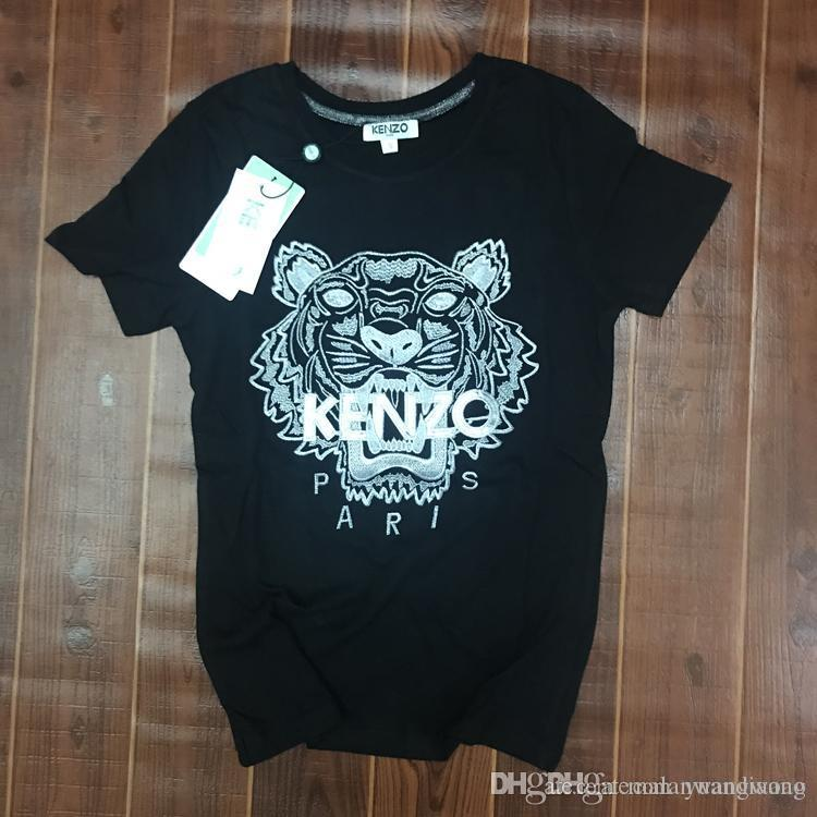 125f0f9d3 2019 men's brand clothing T-shirt men's shirt tiger head letter embroidery T -shirt, women's clothing brand short-sleeved T-sh