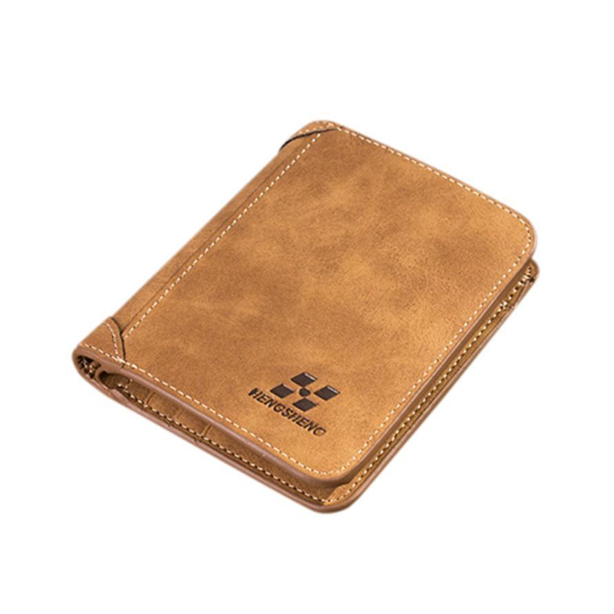 Hengsheng Men Wallets Blocking Short Leather Brand Wallet Men Card Holder Purse With Coin Pocket Carteira Masculina