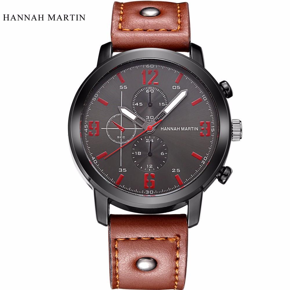 8e516aefcd8c Compre Relojes De Diseño Retro De Primeras Marcas Hombres Banda De Cuero De  Aleación Analógica De Cuarzo Deporte Reloj De Pulsera Horas Reloj Relogio  ...