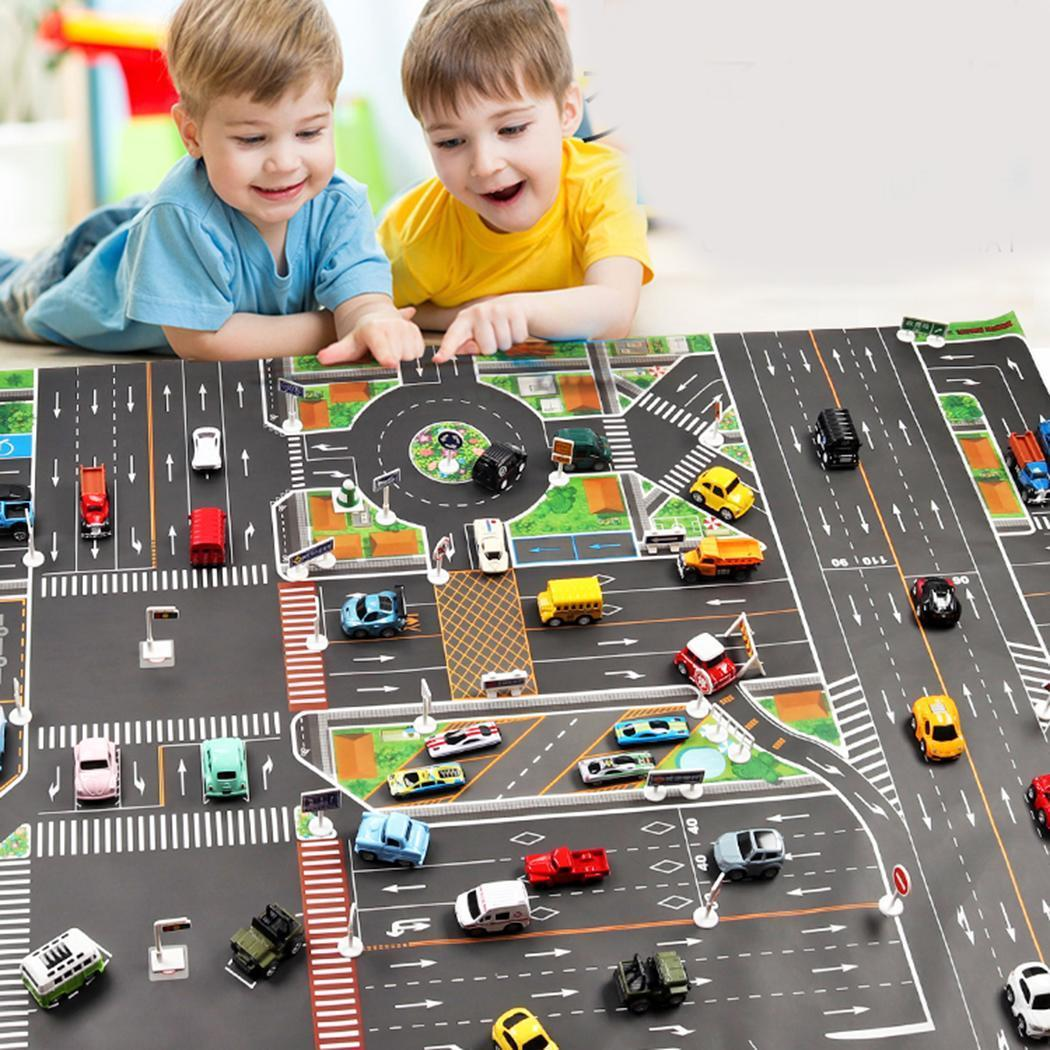 New Kids Car Scena del traffico urbano Road Map Play Mat Game Pad Giocattolo educativo Moda New Children Scene Road Traffic Scene Mat