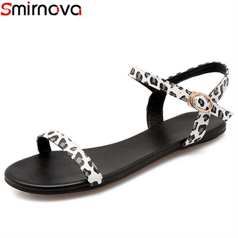 a7b415897 Smirnova 2019 Summer Hot Sale Women Sandals Buckle Simple Casual ...