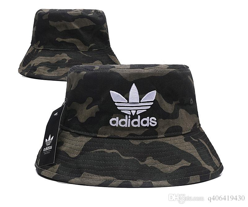 bfd1edadc5f 2019 Design Unisex Adult Wide Side Bucket Hats Camouflage Fisherman ...