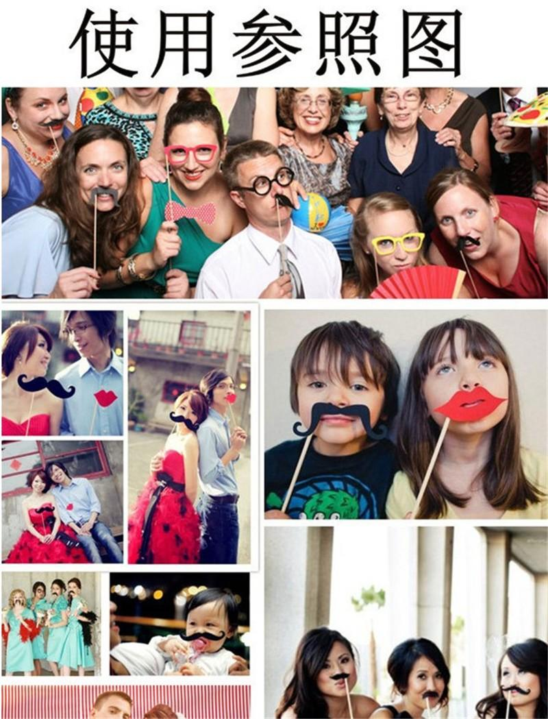 Photo Booth Prop 2019 NewHot Sale Funny Photo Booth Props Hat Mustache On A Stick Wedding Favors Birthday Party Decoration