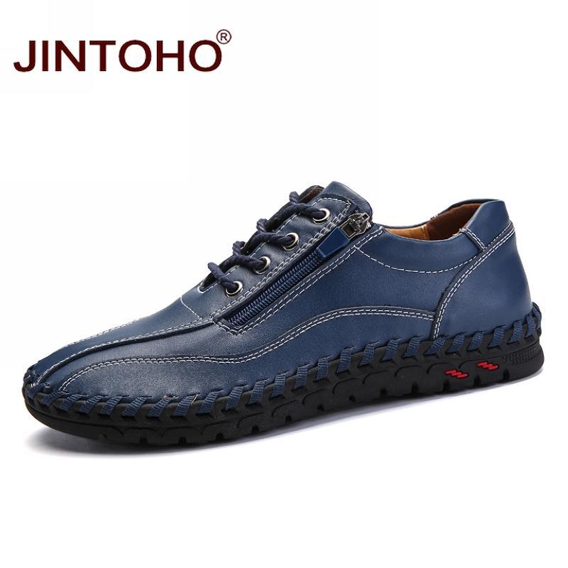 1056c6032 Compre 2019 JINTOHO Grande Tamanho 38 50 Sapatos Masculinos Casuais Moda  Masculina De Couro Genuíno Mocassim De Couro Designer De Marca De Luxo  Italiano ...
