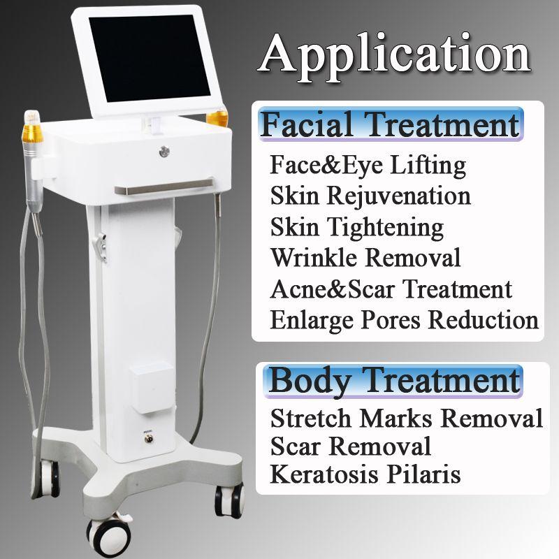 machine partielle de rajeunissement de peau de rf 2 DANS 1 dispositifs partiels de soin de peau de machine de retrait de ride de RF de Microneedle
