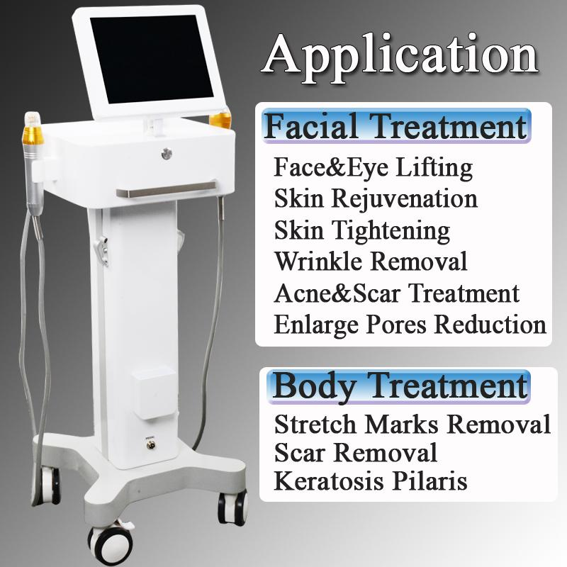 rf Skin Tightening Face Eyes lifting Wrinkle Removal machine fractional rf microneedle stretch marks removal machine