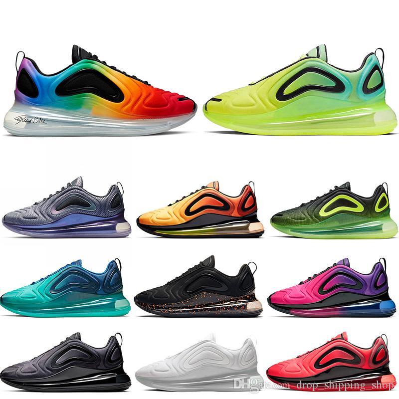Nike Air Max 720 air 720 Fahion para hombre zapatillas deportivas de diseño zapatos para correr las mujeres Be True Northern Lights Sunrise Triple s