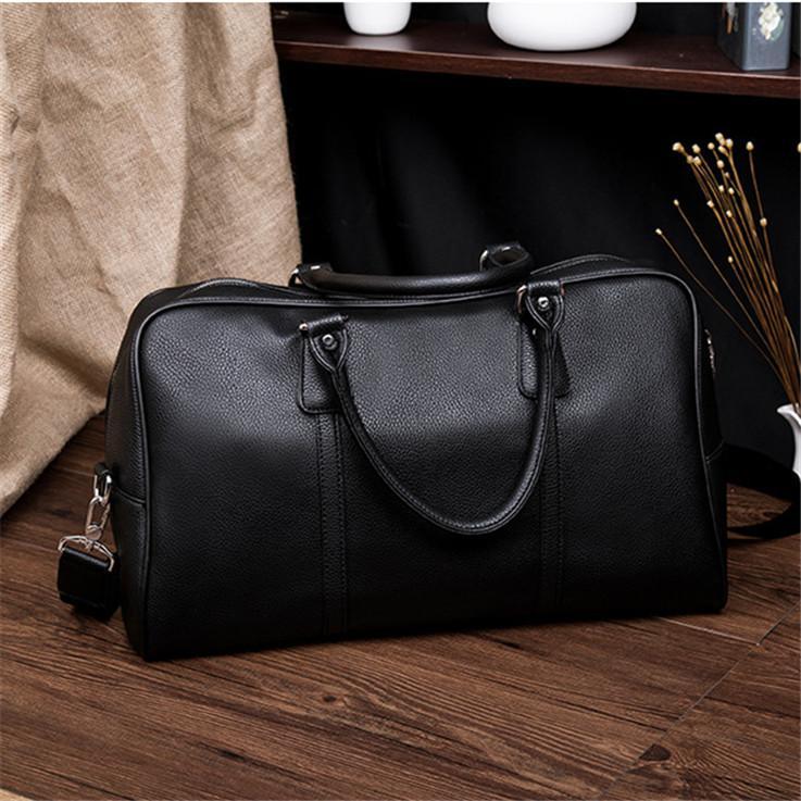 d499b0cc7 Wholesale Brand Men Handbag High Quality Leather Bags Fashion Lychee Leather  Business Bag Large Capacity Short Distance Travel Fitness Bag Women Handbags  ...
