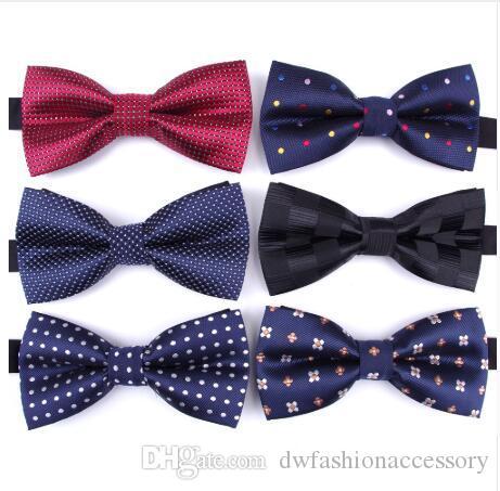 Men's Ties & Handkerchiefs Men Luxury Tie Formal For Ties Jacquard Woven Plaid Necktie Wedding Bowtie Man Business Shirt Accessories Corbatas Para Hombre