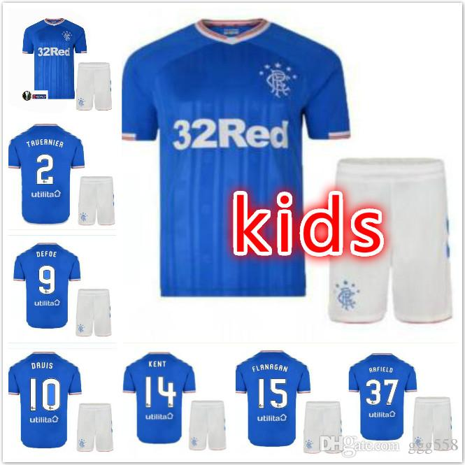 save off cc28d 02785 new Glasgow Rangers kids kit soccer Jersey 19 20 Home Away Morelos  Tavernier ARFIELD Middleton CANDEIAS 2019 2020 boy set MURPHY KENT child