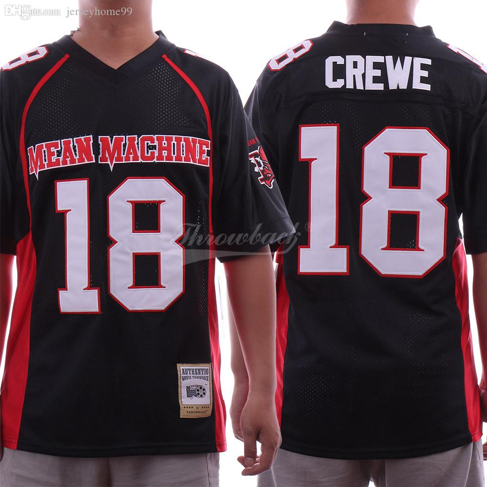 2a7391ad404 Men's Machine Sandler 18 Paul Crewe Jersey The Longest Yard Football Movie  Jersey Black S-XXXL Stitched Top Quality Wholesale