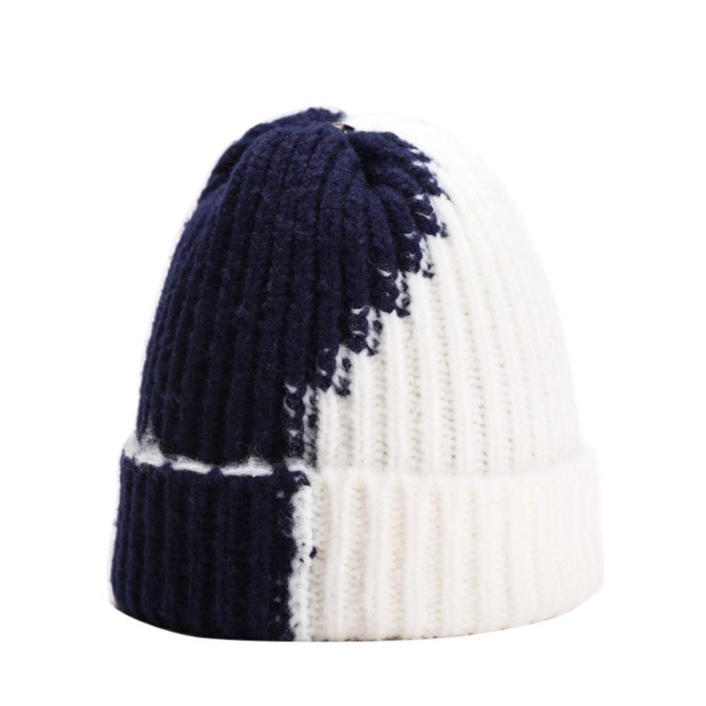 5b627f3d9fe 2019 MUQGEW 2018 Hot Fashion Unisex Knitted Ski Beanies Winter Warm Hat  Baggy Two Tone Striped Cap Men S Winter Hats Bonnet Femme From Lahong