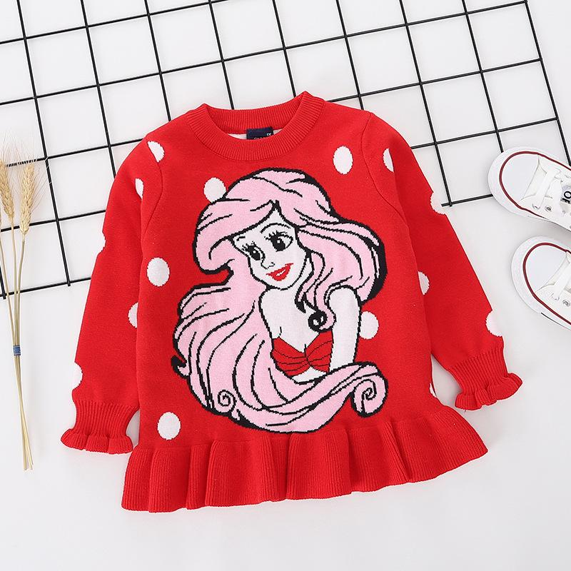 Knitted Sweater Toddler Baby Girls Sweaters Autumn Winter Fashion Designs Kids