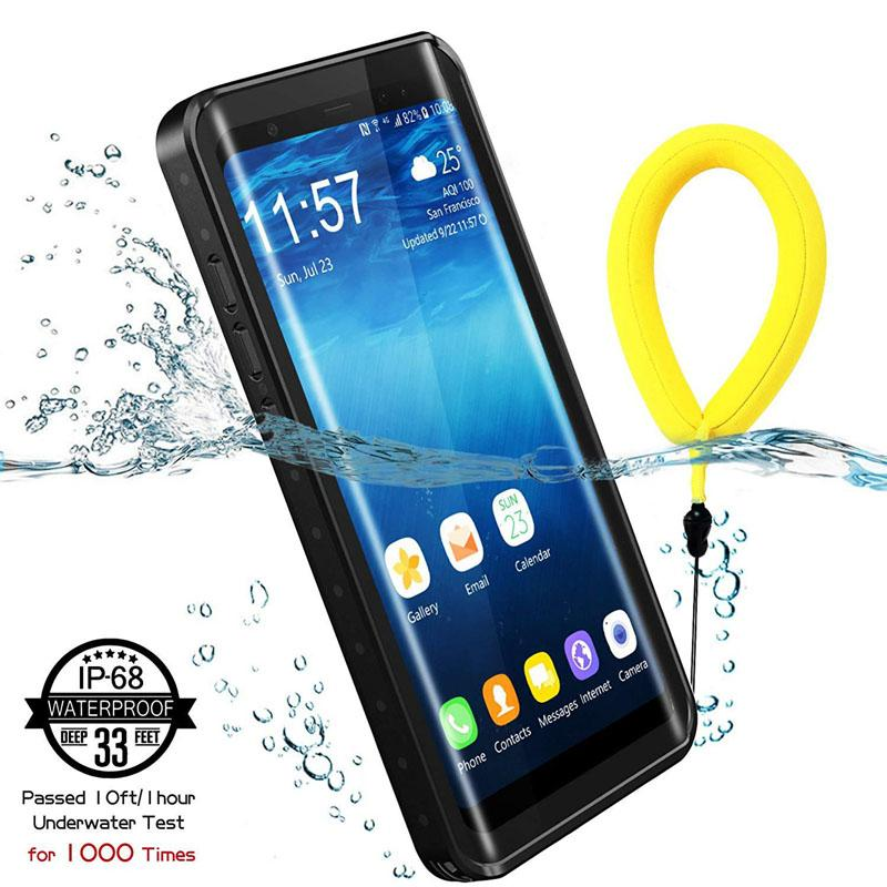 size 40 5f663 2dea1 For Samsung Galaxy Note 8 Waterproof Shockproof Snowproof Case Full Body  Protective Clear Case Built-in Screen Protector