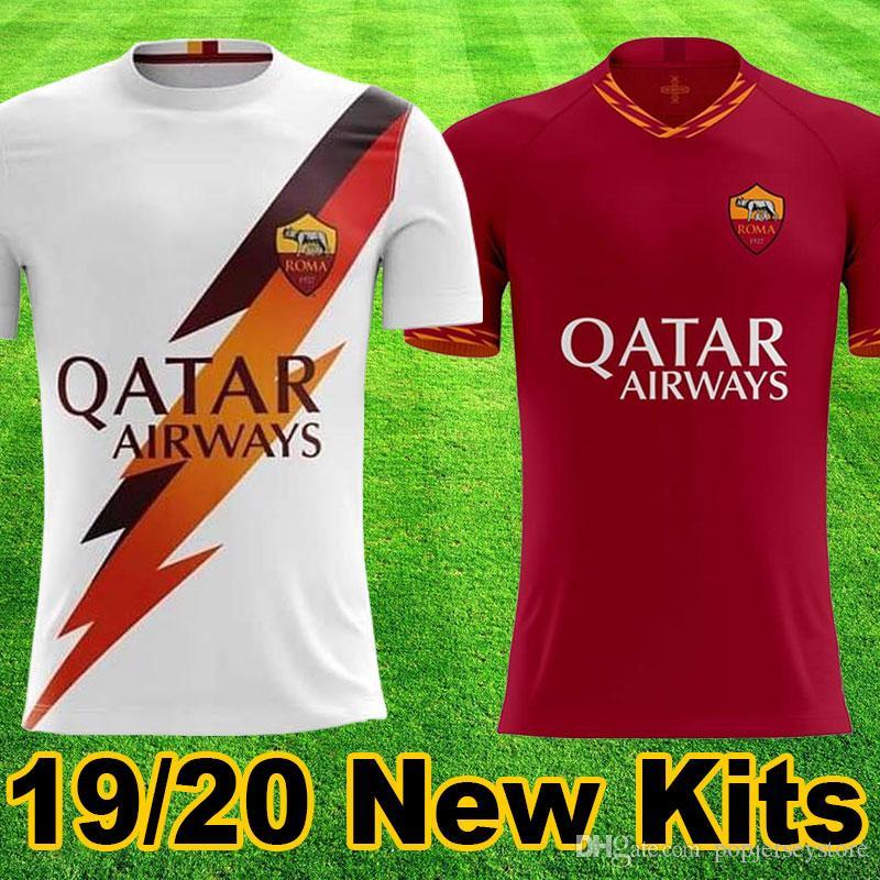 new arrivals 686ea 93f07 Thailand Roma 2019 2020 New AS Roma Soccer Jerseys TOTTI DZEKO DE ROSSI EL  SHAARAWY PASTORE Football Shirts 19 20 ROME maglietta