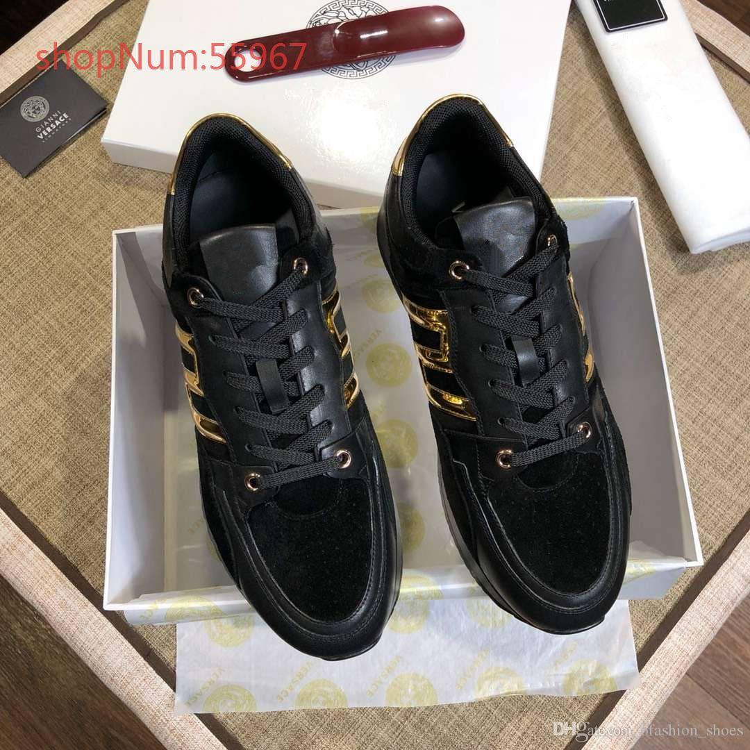 82dafc7a Male sneakers 2018 new design brand genuine leather high quality breathable  leisure men black shoes size 38-44
