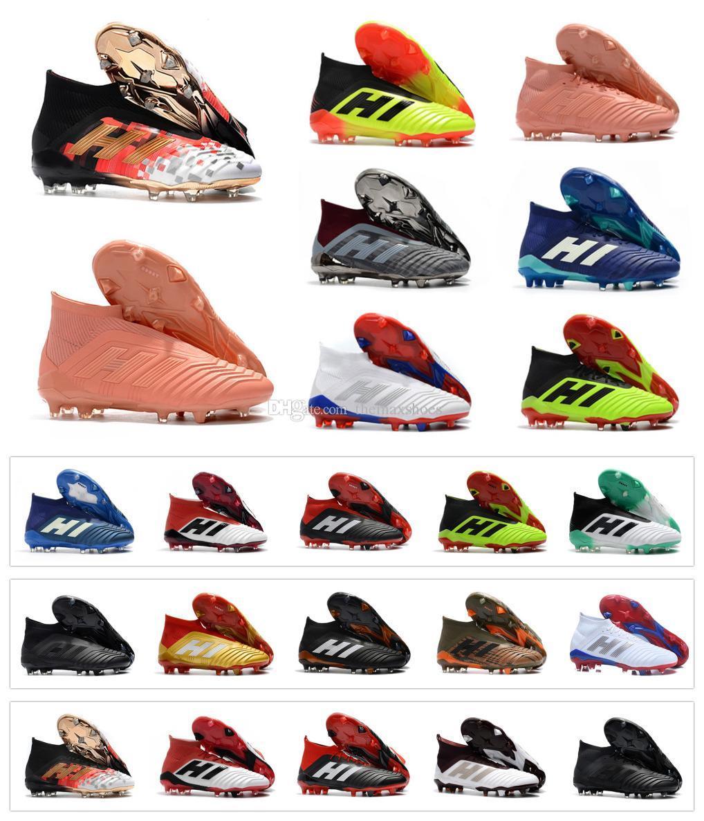 Nuevo Predator 18 Predator 18.1 FG PP Paul Pogba soccer 18 x tacos Slip On botas de fútbol para hombre zapatos de fútbol de alta calidad