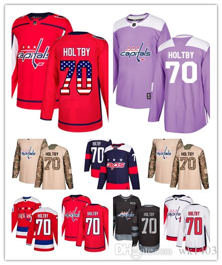 info for d2b0f d1c5d Washington Capital jerseys #70 Braden Holtby Jersey hockey men women youth  white red Alternate Premier blue Stadium Stiched Jerseys