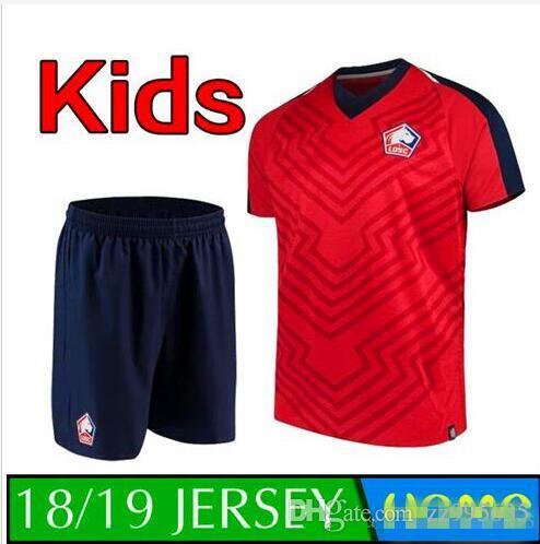 Compre Buena Calidad 18 19 Lille Losc Kit De Niños Camisetas De Fútbol  Camisetas Para El Exterior 2018 Lille Camiseta De Niños Del Equipo Camisetas  De Niños ... 19df490e9ec68
