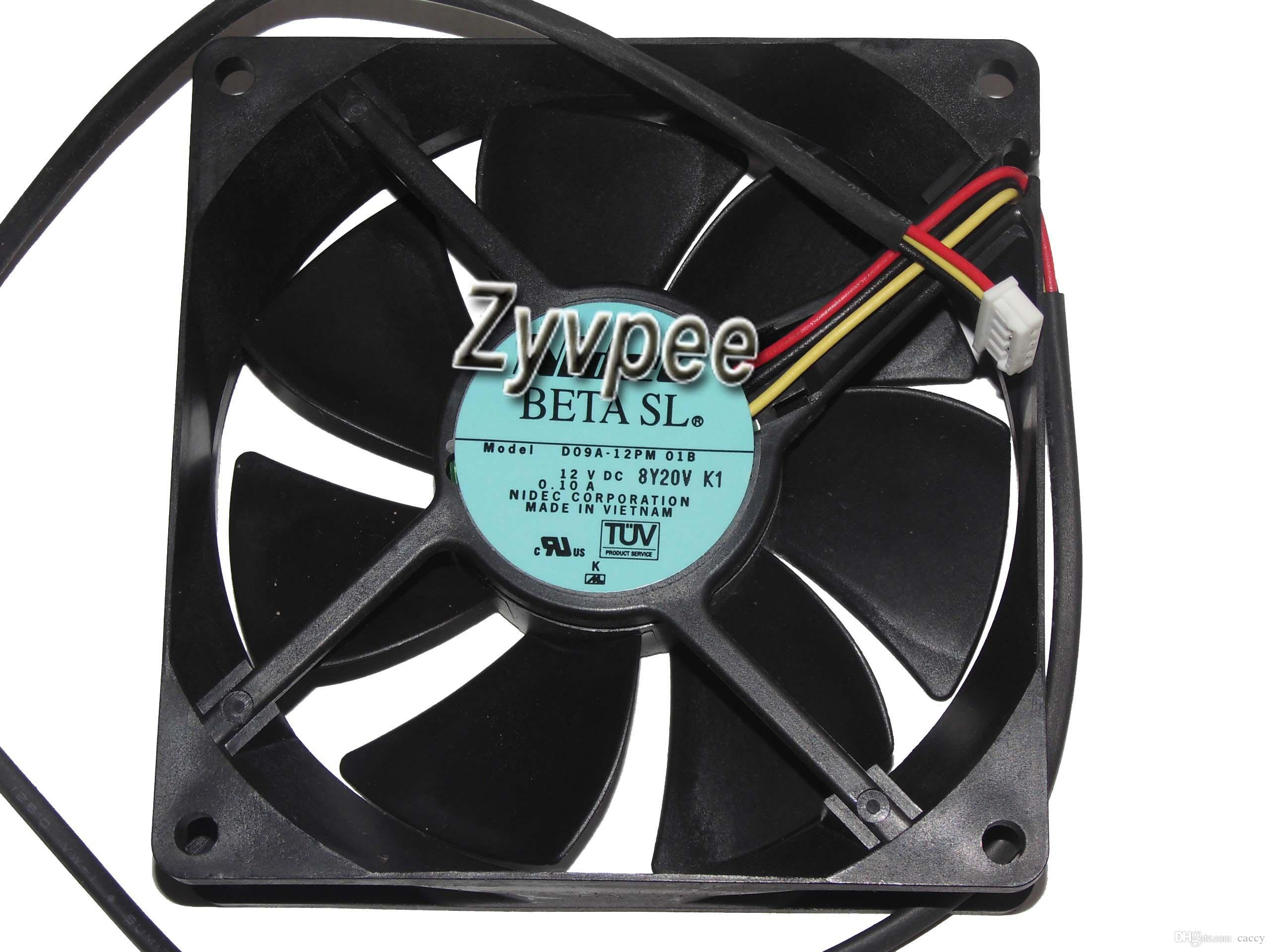 Nidec 90*25mm D09A-12PM 01B 12V 0.1A 3 Wire 3 pins 9cm case fan,cooling fan,server cooler