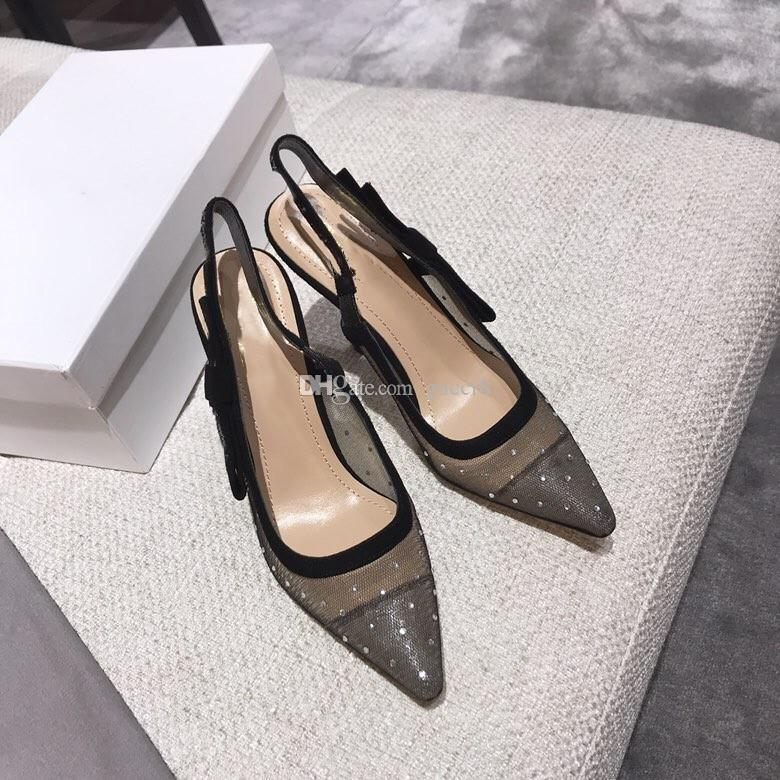983dd0141 New Mesh High Heel Shoes for Women Rhinestone Spring Summer ...