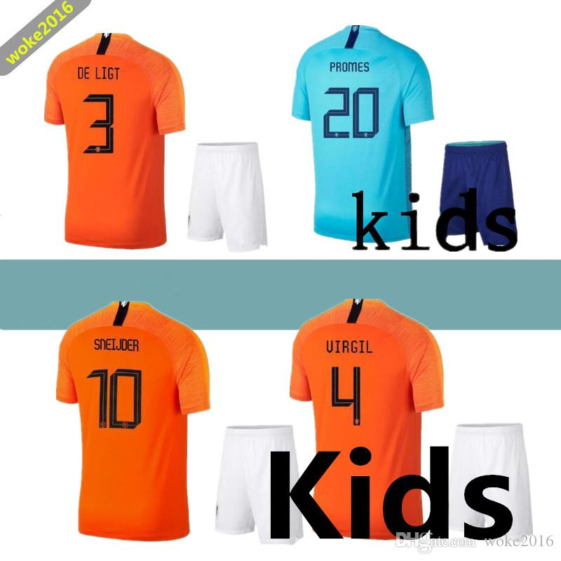 694653c29 2019 2018 19 Netherlands Kids Kit V.PERSIE Holland MEMPHIS Sets SNEIJDER  Children Uniforms BERGWIJN WIJNALDUM Youth Kids Soccer Jersey From  Woke2016