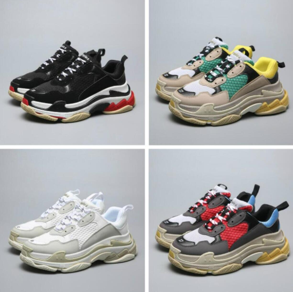 d38abb2cc 2019 NEW Designer Daddy Trip w Walking Shoes Dad Shoes BL Triple S 17FW  Sneakers for Men Women Vintage Kanye West Old Grandpa Trainer Outdoo