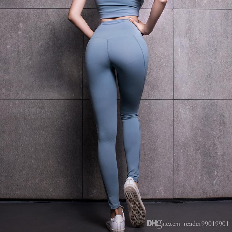 8717ec49f422f 2019 S L Women Running Pants High Waist Yoga Pants Womens Stretchy Skinny  Sheer Mesh Insert Workout Leggings Yoga Tights #534 From Reader99019901, ...