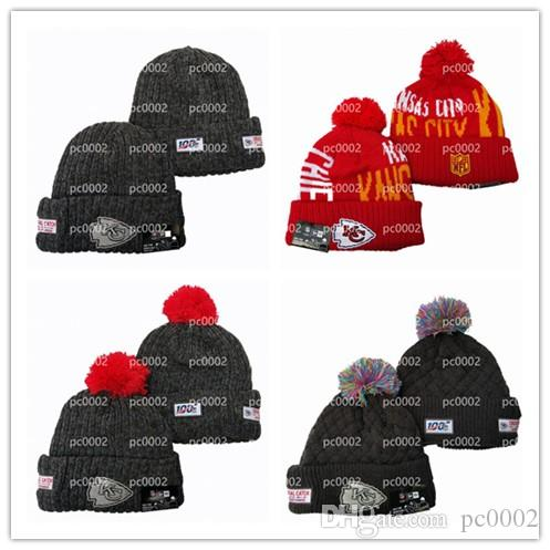 New Era Kansas City Chiefs Onfield Home Bobble Hat in Offical Team Colour
