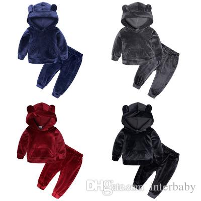 07e2dd763eb6 2019 Baby Clothes Suit Winter Warm Outfit Fleece Sportswear Thicken ...