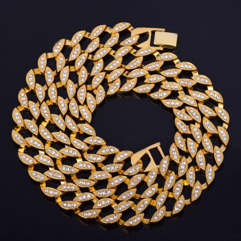 ee3ca04b4ab Acheter Vente En Gros Collier Houblon Pour Les Bijoux Des Hommes D argent  Chaîne D or Cristal Longs Colliers Pour Hommes Bijoux Accessoires  Personnalisés De ...