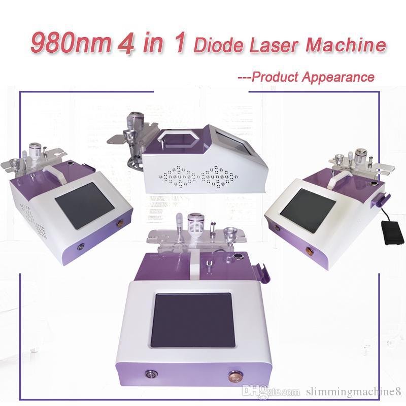 Equipamento de beleza máquina de remoção vascular a laser de diodo 980nm Remover vasos sanguíneos vermelhos Máquina de tratamento de veias da aranha
