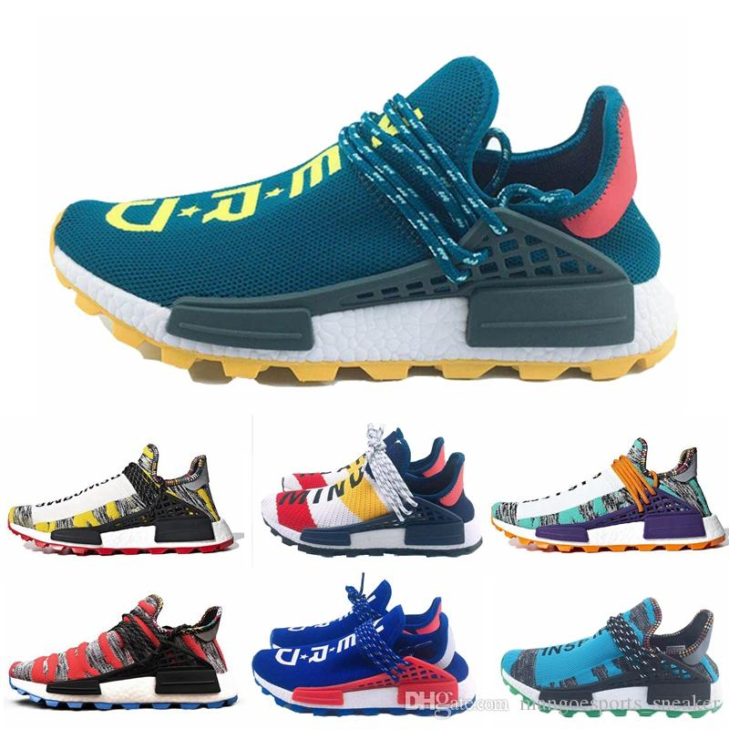 save off 32c00 c37cb 2019 New Human Race Pharrell Williams X NMD Sports Running Shoes Nerd Aqua  cream Holi mens trainers women designer sports runner sneakers