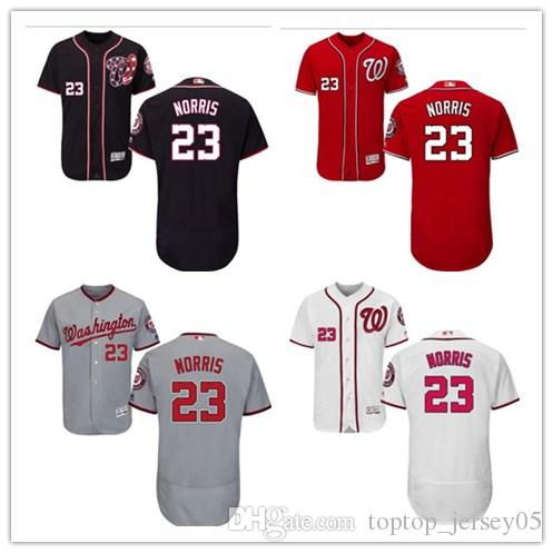 b9450f367 2019 2018 Washington Nationals Jerseys  23 Derek Norris Jerseys Men  WOMEN YOUTH Men S Baseball Jersey Majestic Stitched Professional  Sportswear From ...