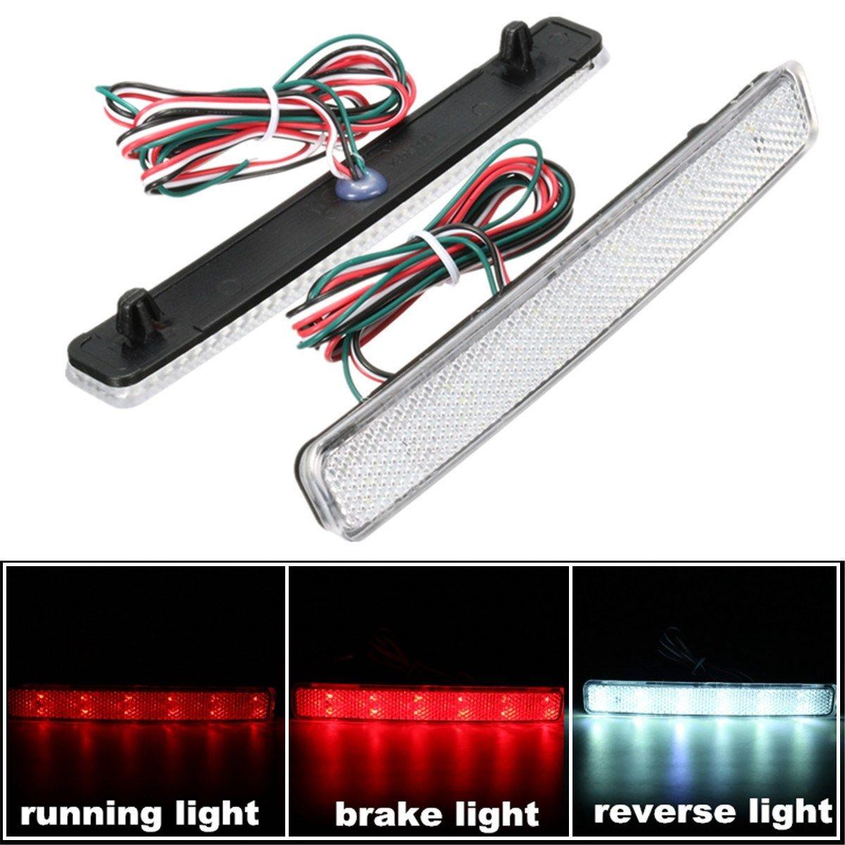 Freeshipping 2x 24 LED Auto Rear Reflectors Bumper Tail Fog Lamp Brake Stop  Night Running Lights Driving Reverse Light For VW/T5 Transporter