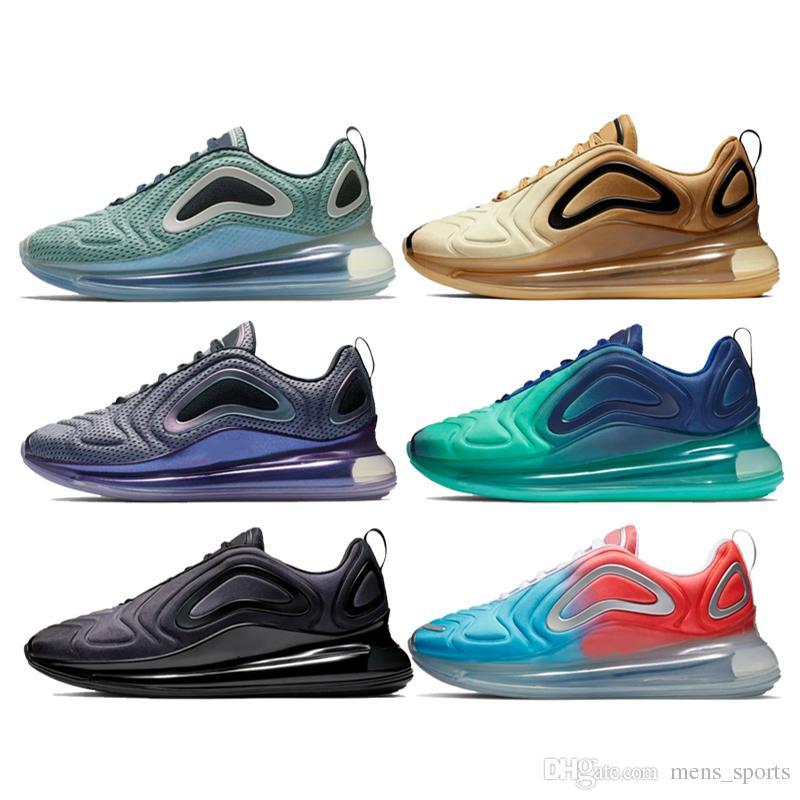 Nike air max 720 2019 Zapatos nuevos Zapatos acolchados para hombre, mujer, neón, triple, negro, gris, carbono, color plateado, metalizado, plata