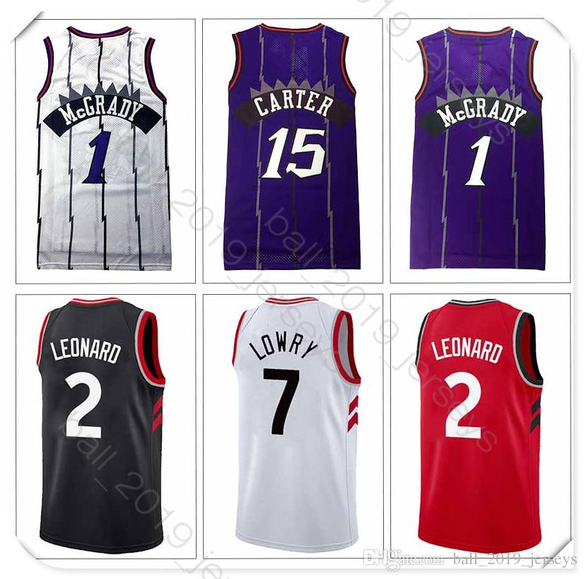 newest e2cd7 7136c 7 Lowry 15 Carter jersey 2 Leonard Raptors jersey 2019 new top quality  Stitched basketball jerseys