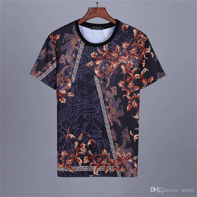 2019 Summer New Arrival Top Quality Clothing Men's T-Shirts Medusa Print Tees M-3XL 22005