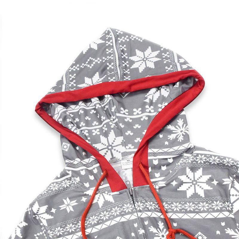 Natal da família roupa Snow Flake Pijamas Set Xmas Mesma roupa pais e miúdos Pijamas Roupa de Noite Início partido Romper