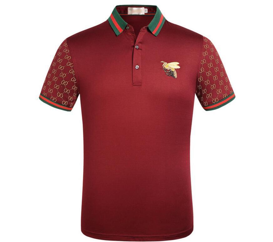 e9c02bdad New Men POLO Shirt Fashion Mens Classic Lapel Gucci T Shirt ...