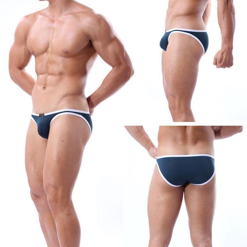 Top qualidade Homens duas peças separa as calças sexy simplicidade Lingerie sem costura cuecas U convexa bolsa tanga knicker