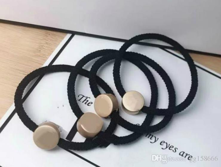 New fashion hair ornaments for adult female CC head rope hair rings and ponytail leather tendons stylish simple leather case vip gift 10pcs