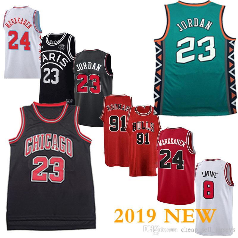new concept e7140 64437 91RODMAN 45 /23 MJ Retro jersey 33 PIPPEN Bulls Jersey basketball Jersey  men fans