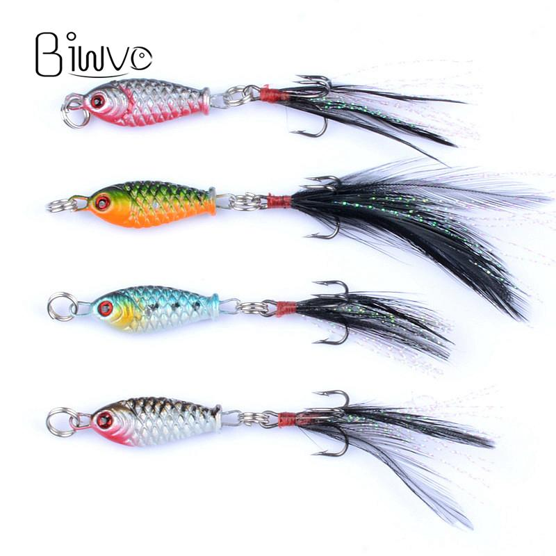 Biwvo Small Fishes Minnow Mini 5g 3.2cm Jig Lures For Fishing Shad Vib Noeby Slow Jig Winter Fishing Tackle Wobbler Trolling