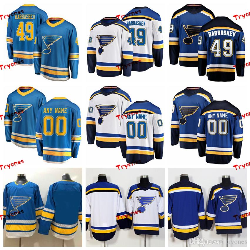 reputable site ee566 f6674 2019 St. Louis Blues Ivan Barbashev Stitched Jerseys Customize Alternate  Light Blue Shirts #49 Ivan Barbashev Hockey Jerseys S-XXXL