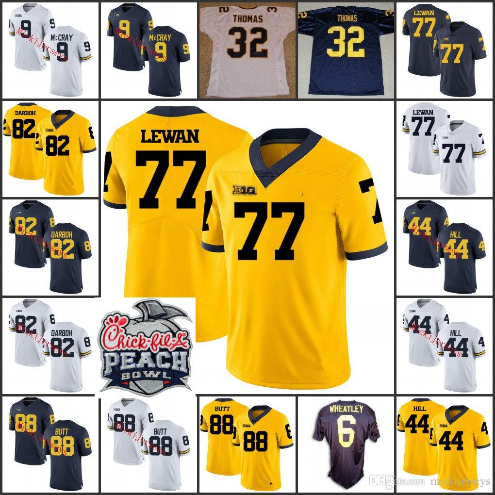 2019 Michigan Wolverines Anthony Thomas Football Jersey Tyrone Wheatley  Anthony Thomas Jake Butt Delano Hill Chris Wormley Taylor Lewan Jersey From  ... af3670c1c