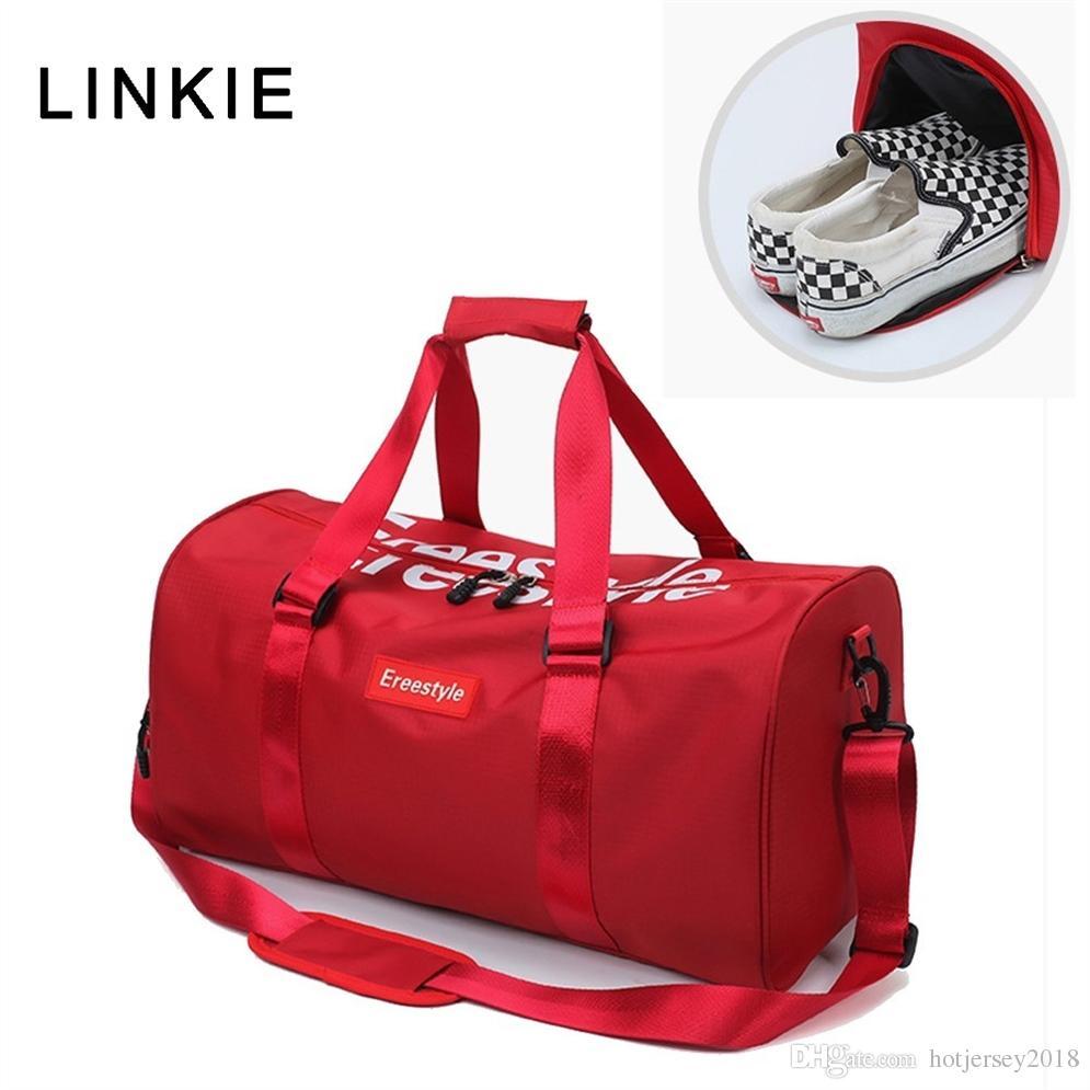 618d3406ae 2019 2018 Red Black Gym Bag Women Men Shoe Compartment Waterproof Sport Bags  For Fitness Training Outdoor Yoga Bolsa Sac De Sport  214508 From  Hotjersey2018 ...